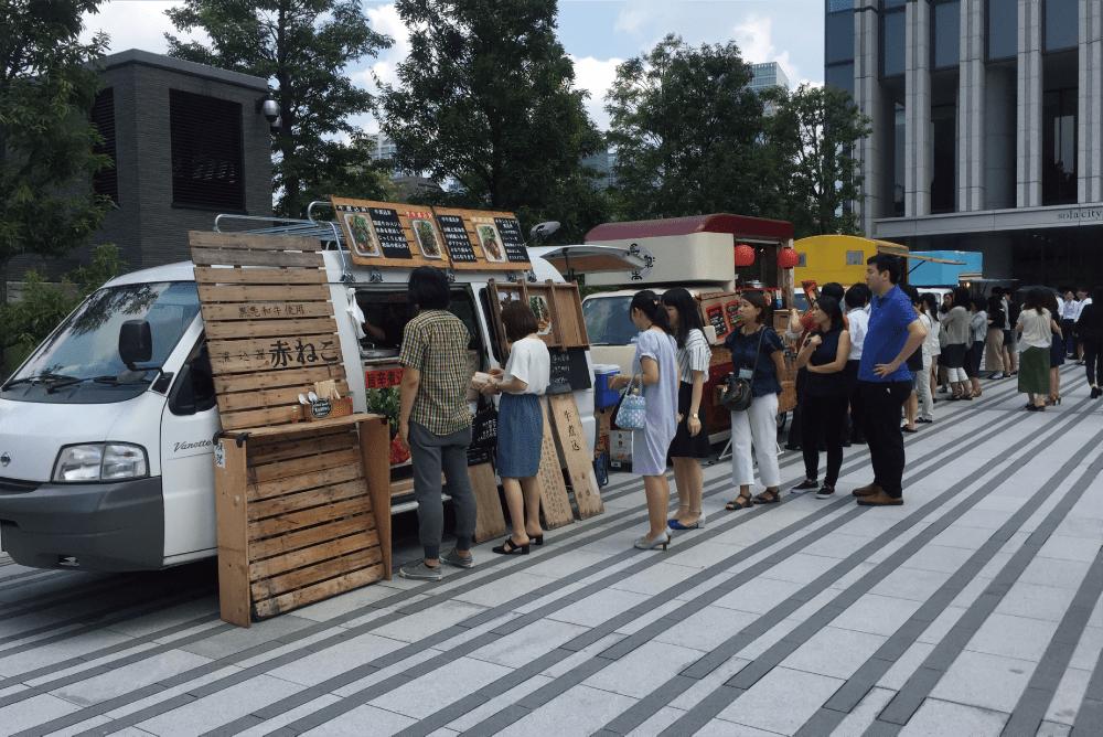 東京のキッチンカーの様子