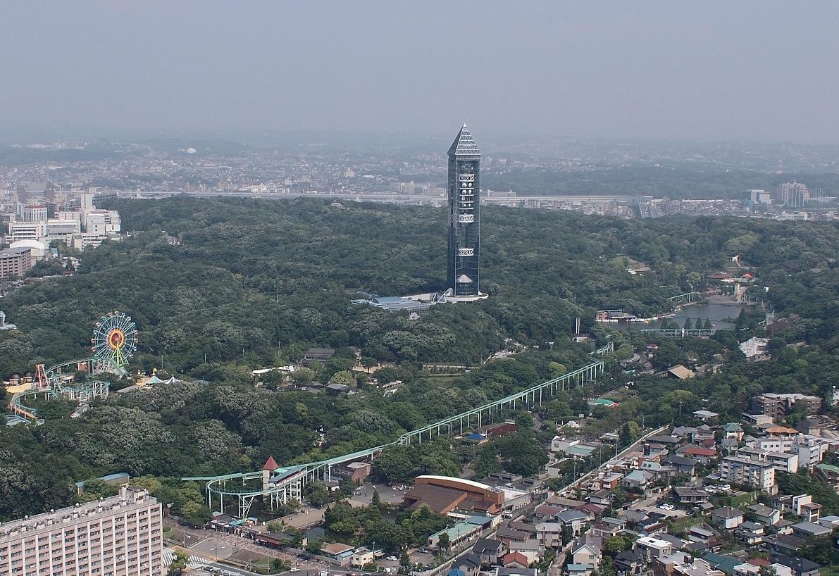 東山動植物園周辺航空写真